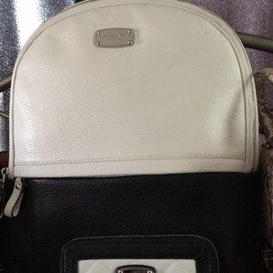 MK Leather Backpack & Wristlet phone carrier.